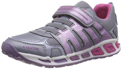Geox J SHUTTLE GIRL C, Mädchen Sneakers, Grau (C9188GREY/LILAC), 30 EU