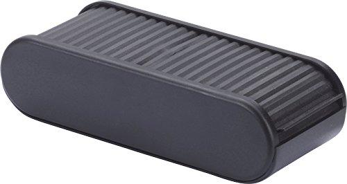 hr-imotion Filzverkleidete Ablagebox mit Rolladen - 168 x 72 x 45mm [Made in Germany | Selbstklebend (Optional)] - 10510001