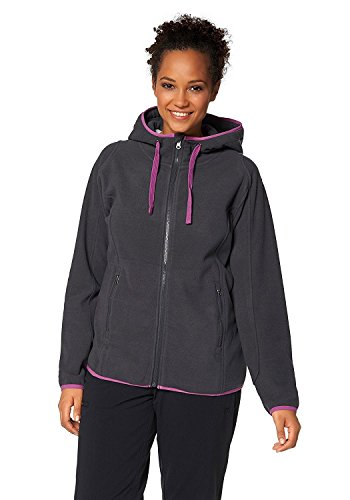POLARINO, Damen, Fleece-Jacke, Anthrazit