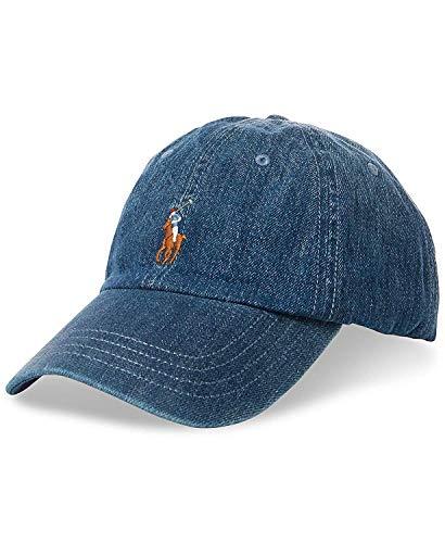 Polo Ralph Lauren - Gorra deportiva para hombre, diseño de camuflaje, color azul, talla única