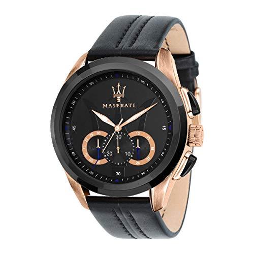 Reloj para Hombre, Colección Traguardo, Movimiento de Cuarzo, cronógrafo, en Acero y Cuero - R8871612025