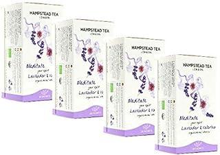 Hampstead Tea London Bio-Infusion mit Lavendel und Baldrianblüten, koffeinfrei, 4 x 20 Teebeutel 80 g