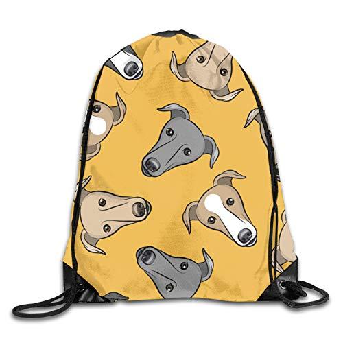 GMGMJ Greyhounds - Bolsa de viaje con cordón para la cara del perro galgo, bolsa de viaje, bolsa de regalo
