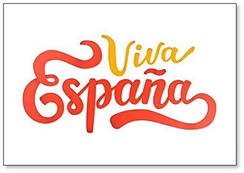 Viva Espana. Imán para nevera con frase patriótica y potente en español