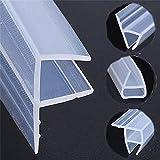 goma Mampara Mucha, tiras de sellado de puerta de vidrio con forma de 1 m, sello de goma de silicona para evitar fugas de ducha, sello flexible resistente a la intemperie para baño (6 mm, F)