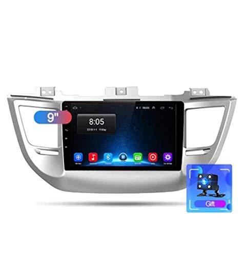 Radio de coche Android 8.1, GPS, pantalla táctil de 9 pulgadas, para Hyundai Tucson 2015 – 2018, con control en el volante, Bluetooth, manos libres, Link DAB USB SWC, 4G + WIFI2G + 32G