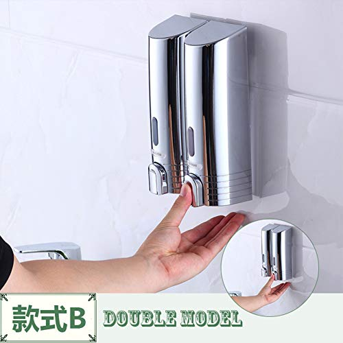 WSLWJH aan de muur gemonteerde zeepdispenser, goedkoopste dubbele zeepdispenser aan de muur gemonteerde zeep Shampoo Dispenser Shower Helper Voor Badkamer Ziekenhuis Hotel Supply