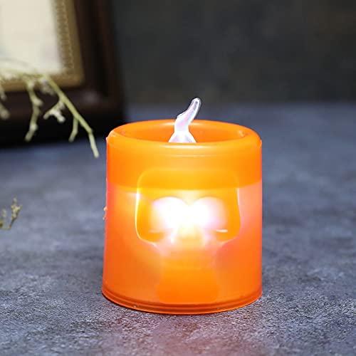 NMSGS0 Luces de decoracin de Halloween Calavera Fantasmas Luces de Vela de Fiesta Fiesta de Calabaza Led Feliz decoracin de Fiesta de Halloween para el hogar Ciruela