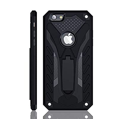 iPhone 6 Case | iPhone 6S Case | Military Grade | 12ft. Drop Tested Protective Case | Kickstand | Compatible with iPhone 6 / iPhone 6S - Black