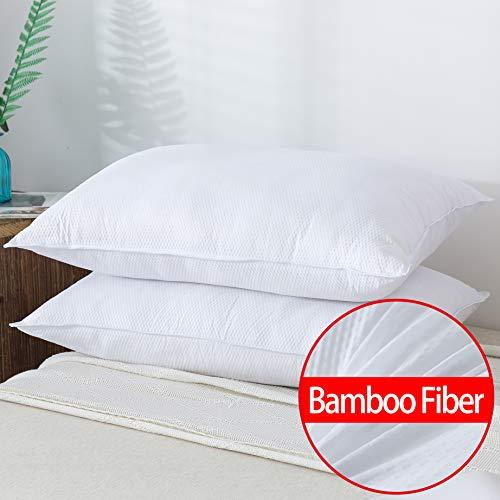 HOMEFOUCS Almohadas Fibra bambú tamaño estándar