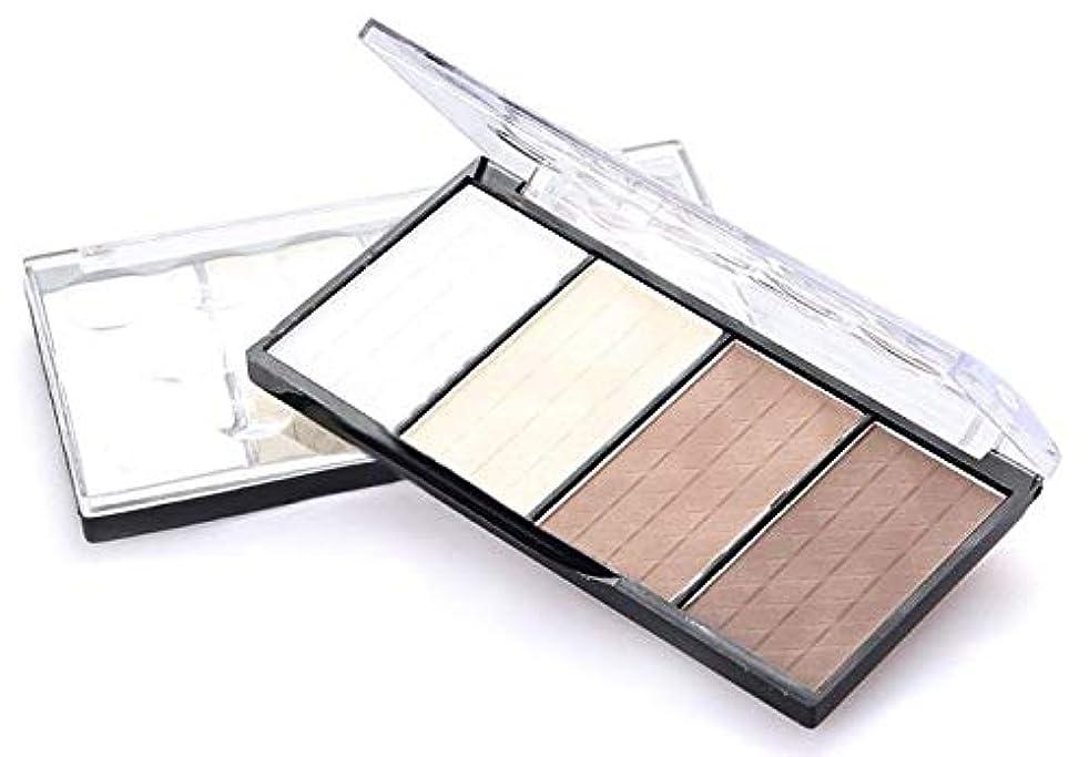 詩人胴体契約した4 Colors Concealer bronze Camouflage Makeup Neutral Palette Primer Contour Facial Shadow Highlighter V Face