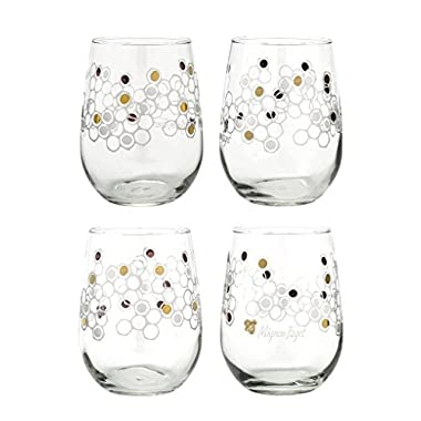 Mignon Faget HIVE Stemless Wine Glasses, Set of 4