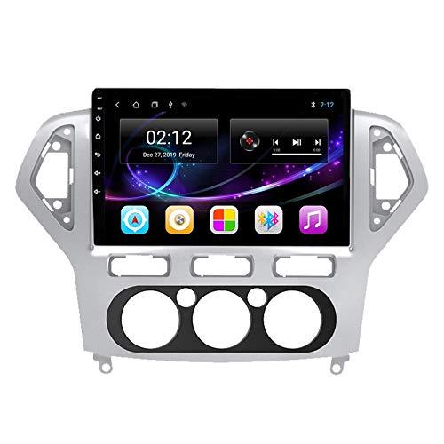 Radio Estéreo De Coche Bluetooth Apoyo De Reproductor MP5 Llamadas Manos Libres Radio FM Enlace Espejo/WiFi/AUX Entrada/1080P Video/SWC, para Ford Mondeo 2011-2014,Quad Core,WiFi 1+16
