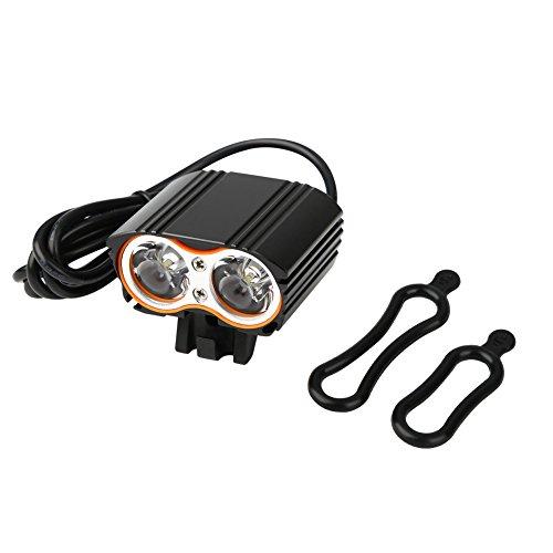 Cyrank 2000LM Luces de Bicicleta, Faro de Bicicleta Recargable USB, Luces Delanteras Brillantes LED traseras traseras para Todas Las Bicicletas, Carretera, montaña