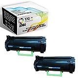 (2-Pack, High Yield) TG Imaging Compatible (331-9805) B2360 Black Toner Cartridge M11XH B2360DN Use for Dell B2360d B3460dn B3465dn B3465 Printer