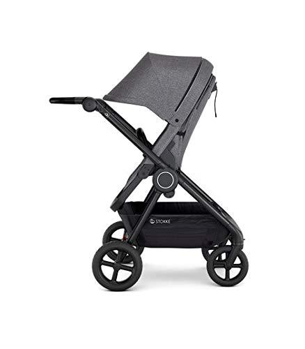 Stokke Beat Lightweight Compact Stroller for Baby and Toddler, Black Mélange
