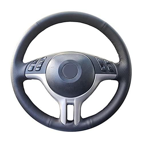 Apto para BMW E39 E46 325i E53 X5 X3, Funda para Volante de Coche,CueroCosido a Mano, Antideslizante, Transpirable