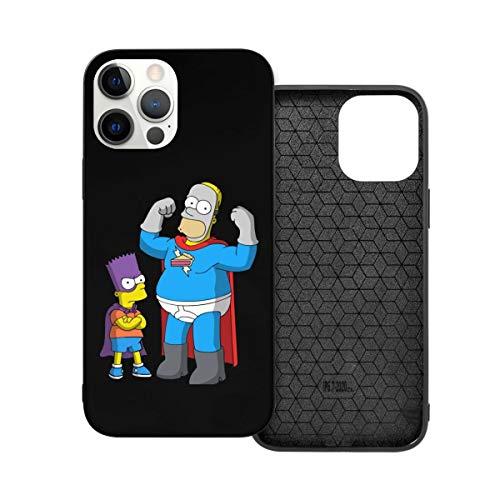 N / A The Simpsons Handyh¨¹lle iPhone 12 PC Material Unisex para la protección de la pers?nlichkeit del teléfono a prueba de polvo Iphone12 Pro-6.1
