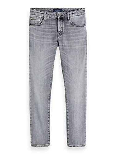 Scotch & Soda Mens Ralston-Organic Cotton Jeans, Clock On Light 3803, 33W/ 32L
