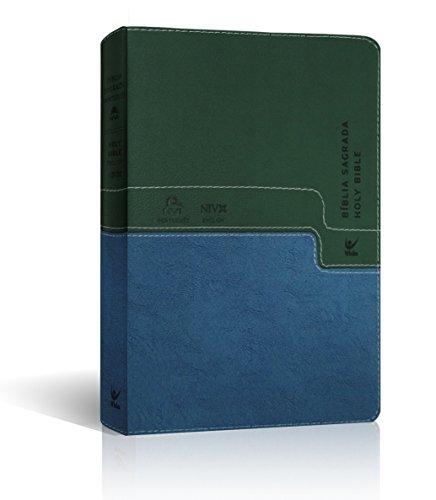 Bíblia Nvi Português Inglês - Cp Verde e Azul