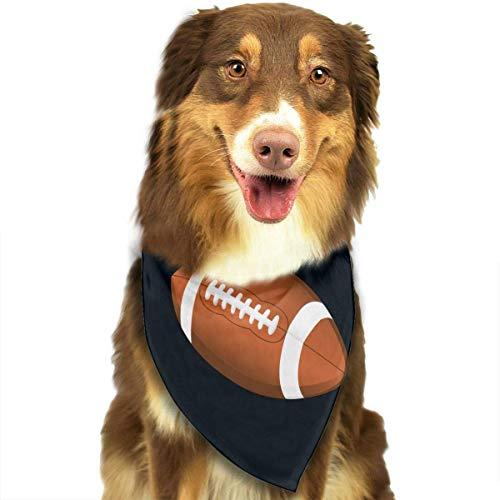 Gxdchfj Football Clipart Fashion Dog Bandana Pet Accessories Easy Wash Scarf