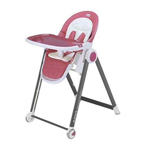 Great Features Of Baby High Chair Adjustable for Height,Backrest,Safety Belt and Tray Removable,Comf...