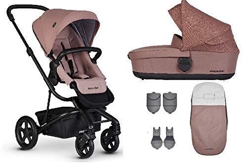 Easywalker Harvey² Kinderwagen + Babywanne + Fußsack + Adapter für Autositz + Höhenadapter Desert Pink
