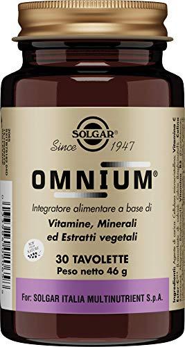 Solgar Omnium (Rico en Fitonutrientes) Multivitamínico para Bienestar General, 30 Comprimidos