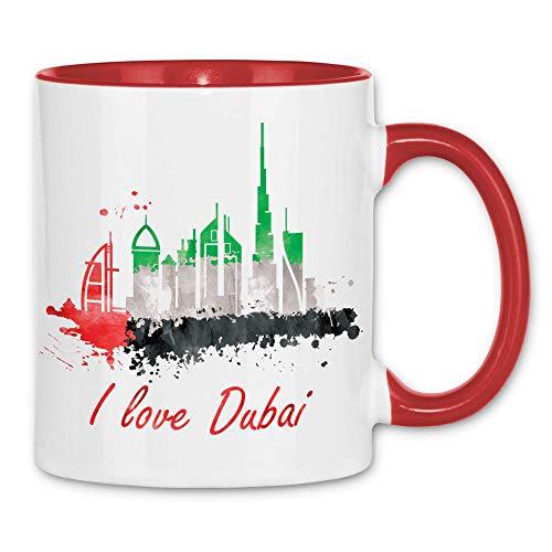 Royal Shirt Tasse I love Dubai mit Fahne, Farbe :White - Red
