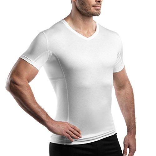 laulas Anti-Schweissshirt Extrem - Funktionsunterhemd mit Zusatzschutz durch wechselbare Saugeinlagen – für die sehr grossen Schweissmengen - L