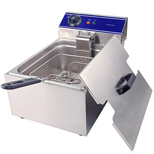 TAIMIKO Commercial Deep Fryer 2500W 10L Stainless Steel French Fry Deep Fat Fryer with Basket,Commercial Restaurant,Fast Food Restaurant