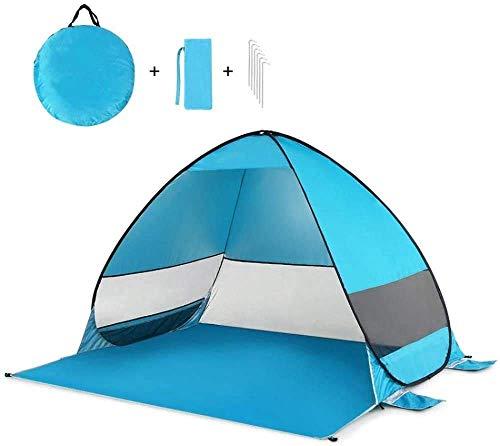 Pop Up Camping Playa Tienda Pop Up Playa Playa Camping Tienda Plegable Outdoor UV Ligera Ligera Impermeable Tienda Sol al aire libre Refugio con bolsa de transporte UV Protección Adecuado for jardín f