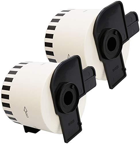 2 x DK22205 62mm x 30.48m Etiquetas continuas compatible con Brother P-Touch QL-500 QL-500A QL-550 QL-560 QL-570 QL-700 QL-710W QL-720NW QL-800 QL-810W QL-820NWB QL-1050 QL-1060N QL-1100 QL-1110NWB