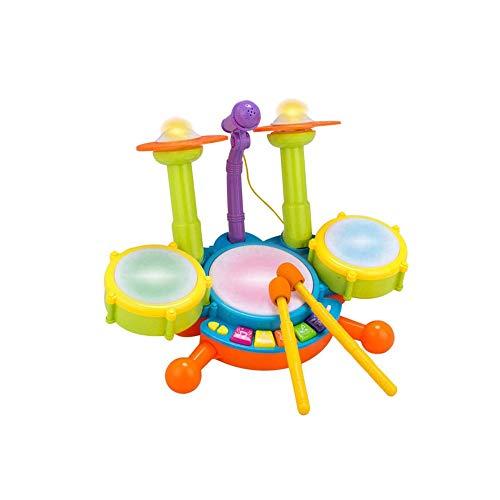 SYXX Batería de los niños for la Educación, Juguetes educativos for niños, Percusión niños y niñas, equipado con un micrófono y musicales Juguetes educativos for niños y niñas
