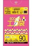 ゴミ袋 90L 900x1000x0.045厚 ピンク色 10枚x30冊 箱 LLDPE素材
