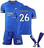 SAH Camiseta de fútbol americano número 9 Vardy 26 Mahrez # 14, transpirable, de secado rápido, para adultos, talla grande, color: azul # 26