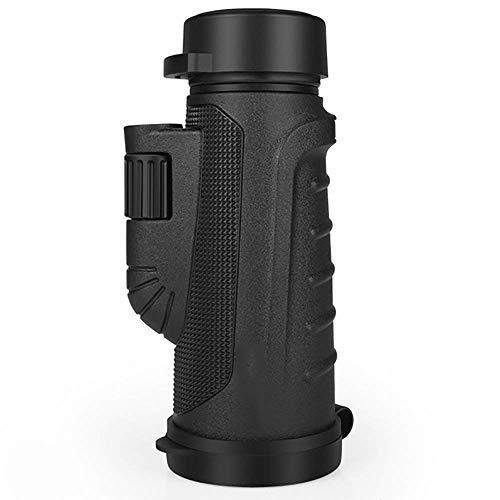 Monoculaire - Télescope 12X50, lunette zoom pour adultes avec adaptateur pour smartphone et trépied - Lunette de repérage étanche Léger pour l'observation des oiseaux adultes, les voyages, les visi