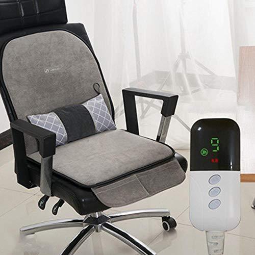 Almohadilla calefactora eléctrica + manta, apta para sillas de oficina, 9 ajustes...