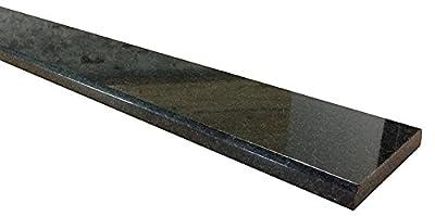Vogue Tile Absolute Black Granite Threshold (Marble Saddle) - Polished -