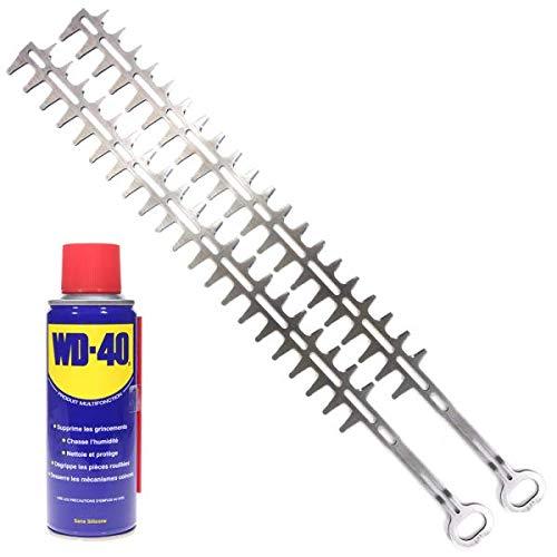 Lame pour taille-haie Stihl HS45 par 2 coupe 600 mm + WD40 - Pièce neuve