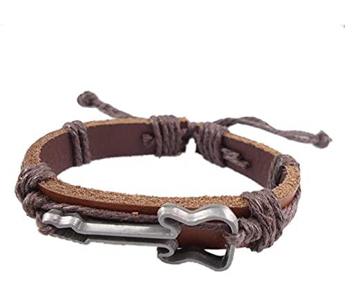 Pulsera ZIYUYANG, pulsera de cuero hecha a mano con cuerda de cáñamo, joyería para mujeres y hombres color4
