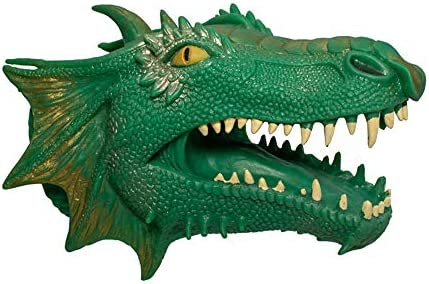ScienceGeek Dinosaur Chinese Cyan Dragon Hand Puppet Gloves Soft Vinyl TPR Animal Head Figure product image