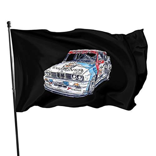 B-M-W Power Fahnen Flagge Flag Banner Polyester Material Gartenbalkon Gartendekoration Im Freien 90x150cm