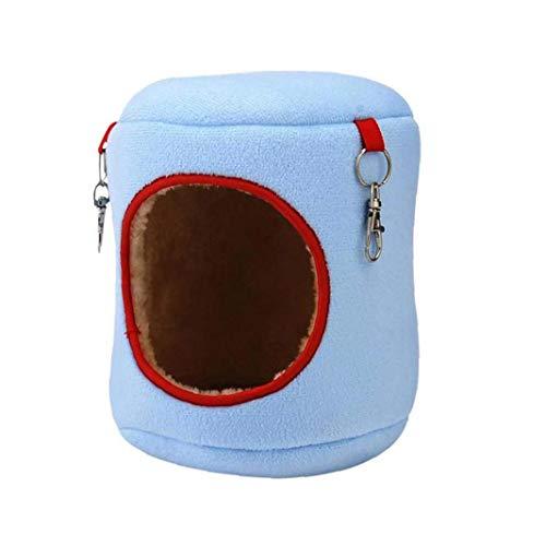 JRXyDfxn Hamster Winter Warm Hammock Bed, Eleventen Rat Squirrel Pets Cage House Hanging Nest Toys Blue L