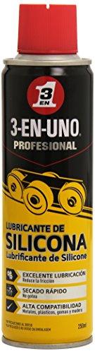 3 EN UNO Profesional 34468 - Lubricante de silicona en Spray- 250 ml, Color Amarillo/Negro