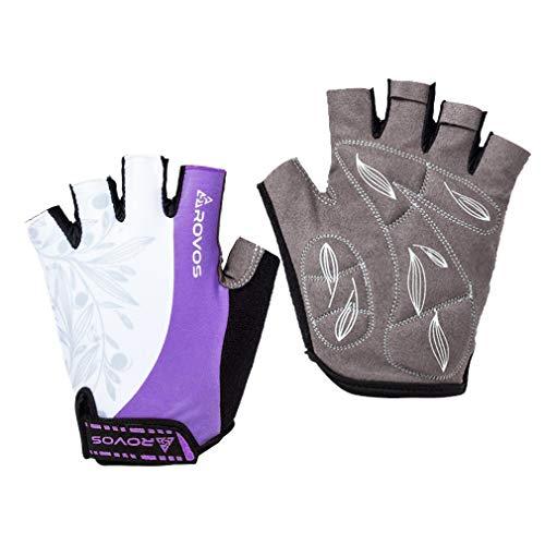 ROVOS Women's Half Finger Cycling Gloves