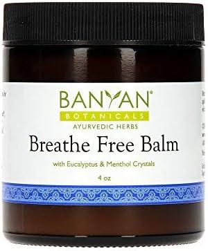 Banyan Botanicals Breathe Free Balm 99 Organic Natural Chest Rub with Eucalyptus Menthol Crystals product image