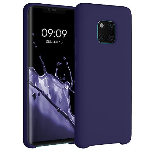 kwmobile Carcasa Compatible con Huawei Mate 20 Pro - Funda de Silicona para móvil - Cover Trasero en Azul Profundo