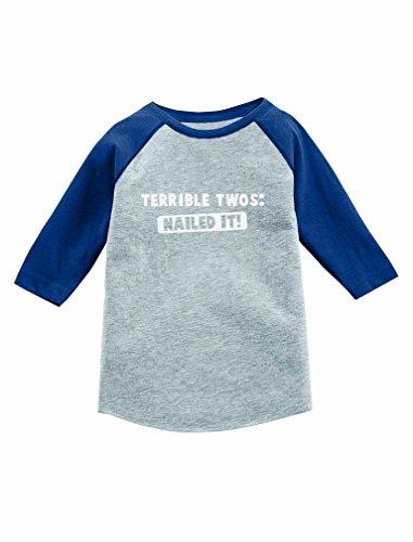 Terrible Twos Nailed It! 3/4 Sleeve Baseball Jersey