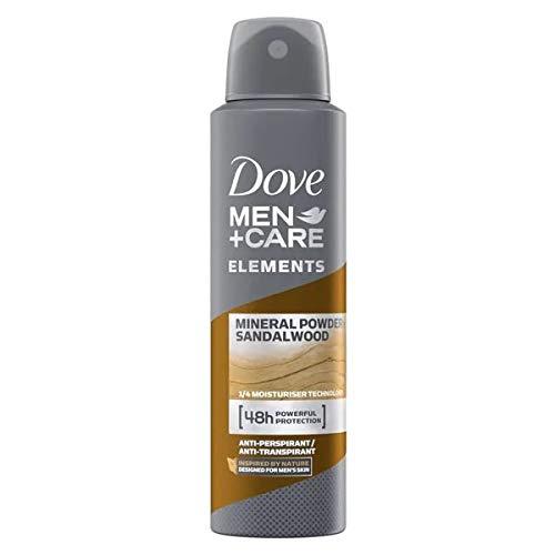 DOVE Men + Care Deospray - Mineral Powder & Sandalwood - 6er Pack (6 x 150ml)